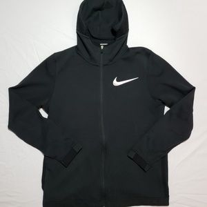 NIKE BASKETBALL JACKET HOODED FULL ZIP BLACK LARGE